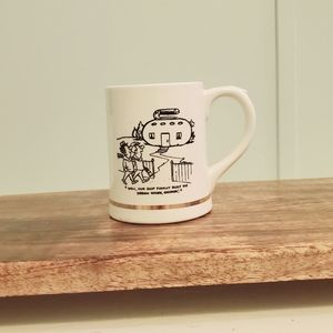 1970's Vintage Curling Capers Cartoon Mug